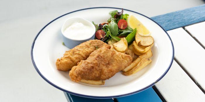 Lightly Battered Fish & Chips from Zorba the Greek Taverna – Café & Restaurant in Clarke Quay, Singapore