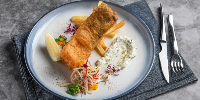 Tiger Beer Battered Barramundi Fish & Chip from Timbre X S.E.A in Raffles Place, Singapore