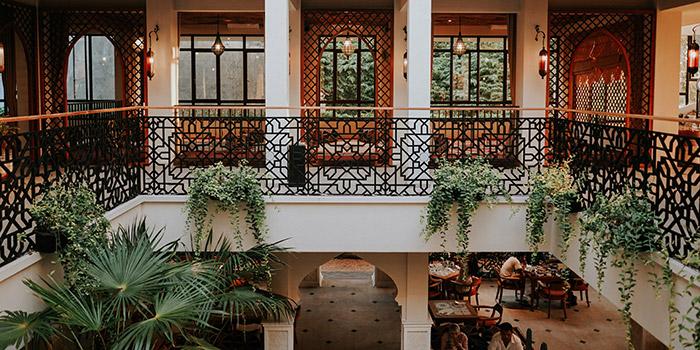 Interior from Abunawas Restaurant, Denpasar, Bali
