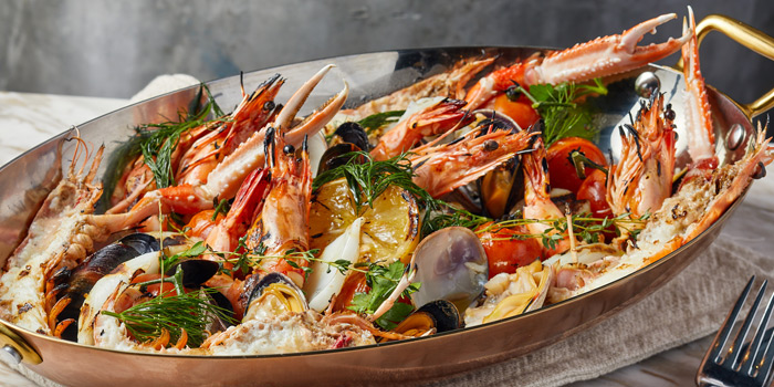Freshly Grilled Mixed Seafood Platter, Va Bene Italiano, Kowloon Tong, Hong Kong