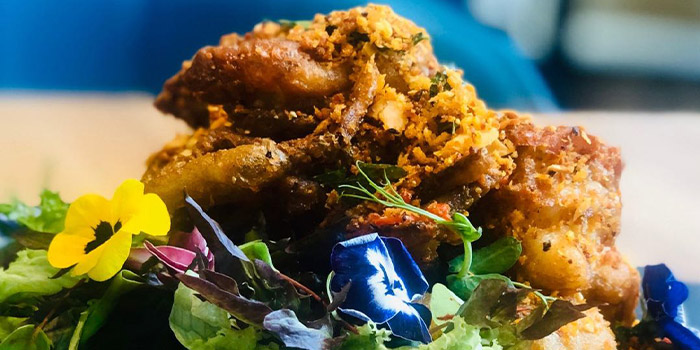 Soft-Shell Crab with Almond Flakes from Nalati in Raffles Place, Singapore