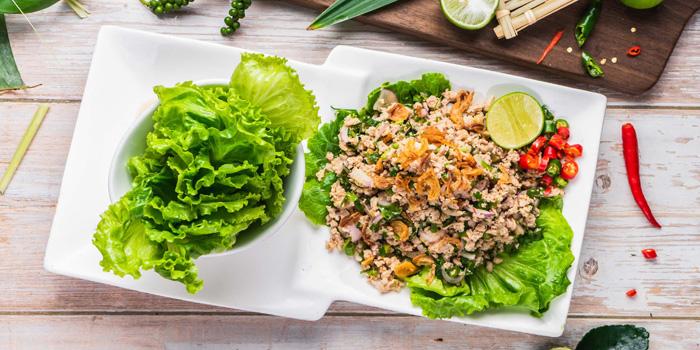 Chicken or Pork Laab, Baan Thai Restaurant, Western District, Hong Kong