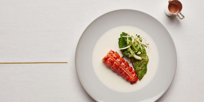 Lightly Smoked Blue Lobster, Alain Ducasse at Morpheus, Macau