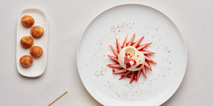 Raw and Cooked Strawberry, Alain Ducasse at Morpheus, Macau