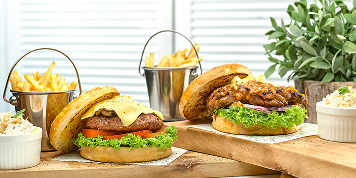 Burgers from Casa Verde at Singapore Botanic Gardens in Tanglin, Singapore