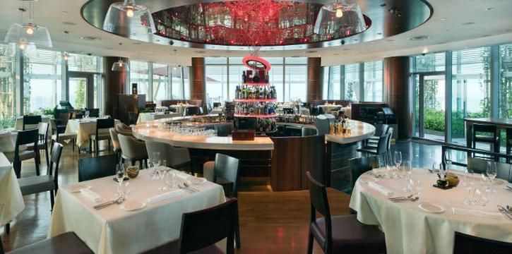 Interior of Zafferano Italian Restaurant & Lounge in Collyer Quay, Singapore
