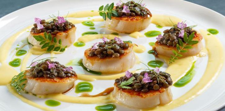 Scallops from Zafferano Italian Restaurant & Lounge in Collyer Quay, Singapore