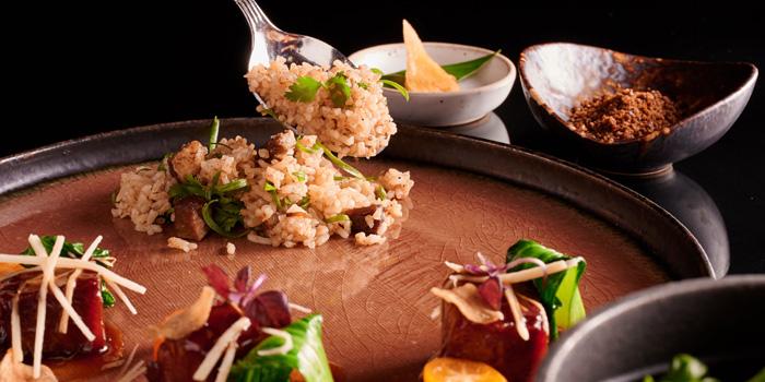 Crispy Beef with Baked Rice from Sra Bua by Kiin Kiin at Siam Kempinski Hotel in Siam, Bangkok