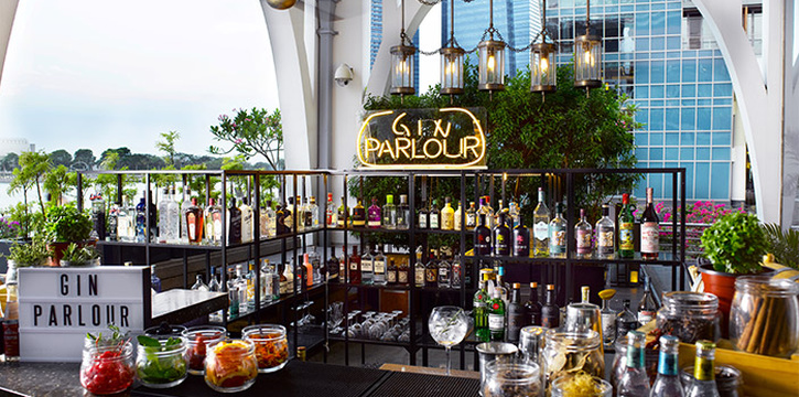 Gin Parlour from The Clifford Pier in Fullerton Bay Hotel, Singapore