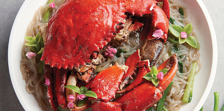 White Pepper Sri Lanka Crab with Korea Vermicelli from No Signboard Seafood (Esplanade Mall) in Promenade, Singapore