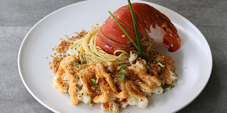 Lobster Tail Pasta from Bao Makers in Chinatown, Singapore
