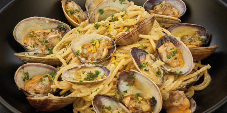 Spaghetti Manilla Clams from D
