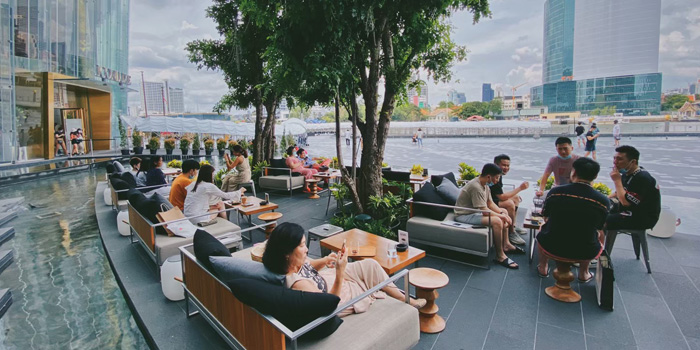 Outdoor Seating Area of D