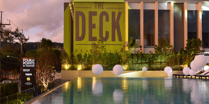 Surrounding of The Deck Beach Club in Patong, Thialand.