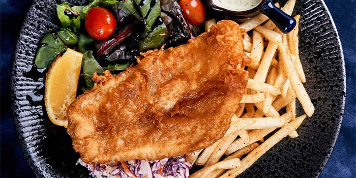 Fish & Chips from Canteen Bistro at SMU School of Information System in Dhoby Ghaut, Singapore
