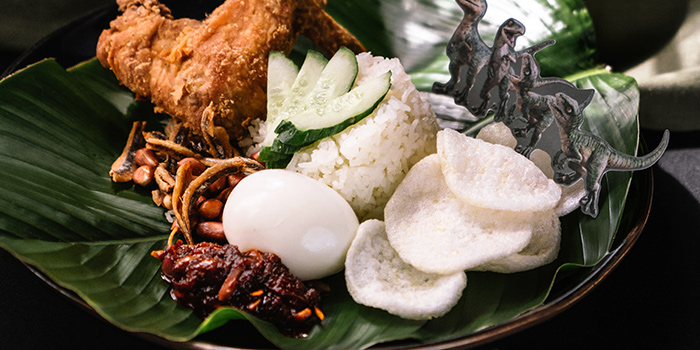 Nasi Lemak from Jurassic World Cafe Singapore at ION Sky in Orchard, Singapore