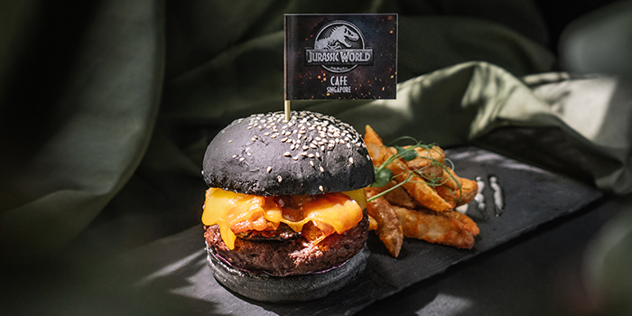 Jurassic Burger from Jurassic World Cafe Singapore at ION Sky in Orchard, Singapore