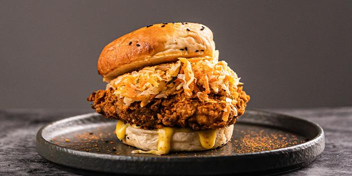 Breakkie Burger from Sarnies Cafe at Telok Ayer in Raffles Place, Singapore