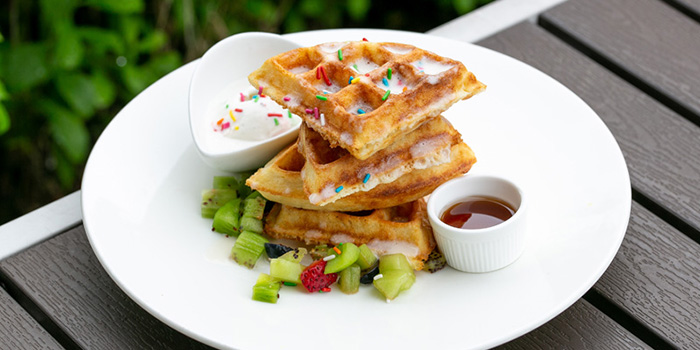 Waffle Stack from YOUNGS Bar & Restaurant in Seletar, Singapore