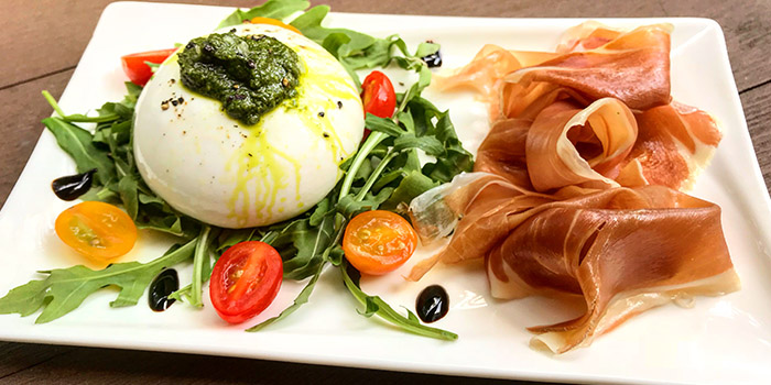 Classic Burrata from Socieaty at One Farrer Hotel & Spa in Little India, Singapore
