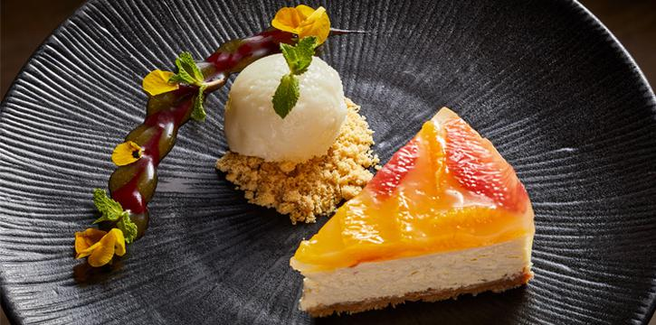 Cheesecake with Mixed Citrus and Lemon Sorbet, Bizou, Admiralty, Hong Kong
