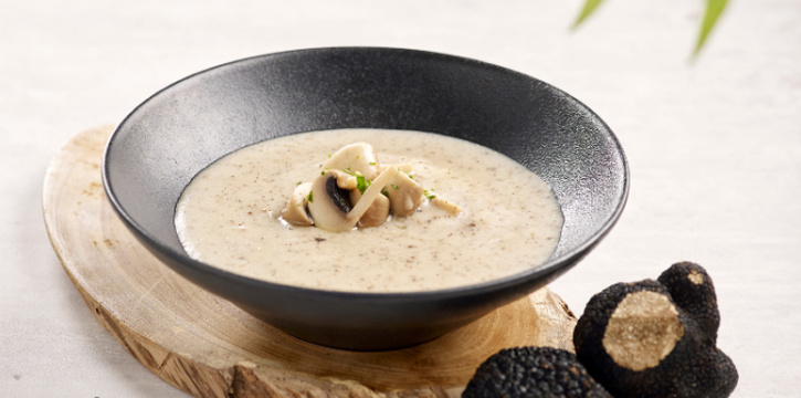 Wild Mushroom Cream Soup with Truffle Oil  from Elemen @ HarbourFront Centre in HarbourFront, Singapore