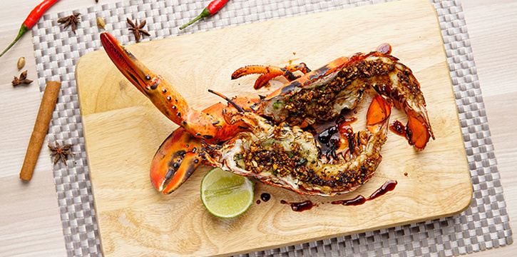 Lobster from Bayang in Clarke Quay, Singapore