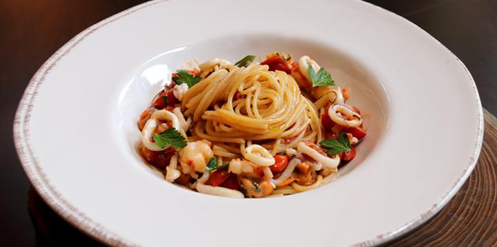 Spaghetti Seafood from ALATi at Siam Kempinski Hotel, Bangkok