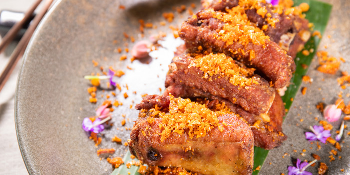 Deep Fried Pork Ribs from Spice & Barley at Anantara Riverside Bangkok Resort 257 Charoennakorn Road, Samre, Thonburi Bangkok