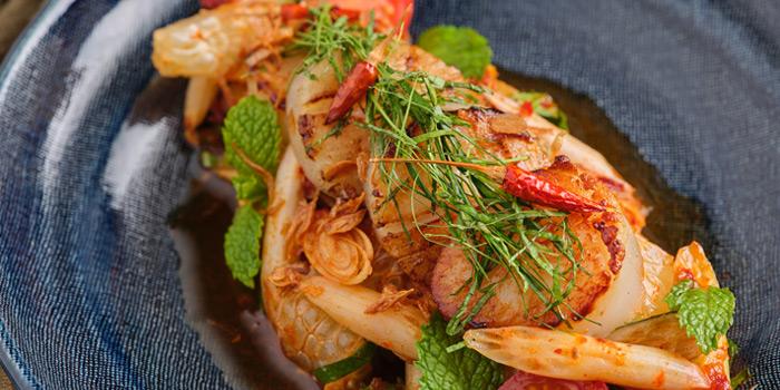 Scallops and Lotus Roots Spicy Salad from Front Room at Waldorf Astoria Bangkok Lower Lobby, 151 Ratchadamri Road Bangkok