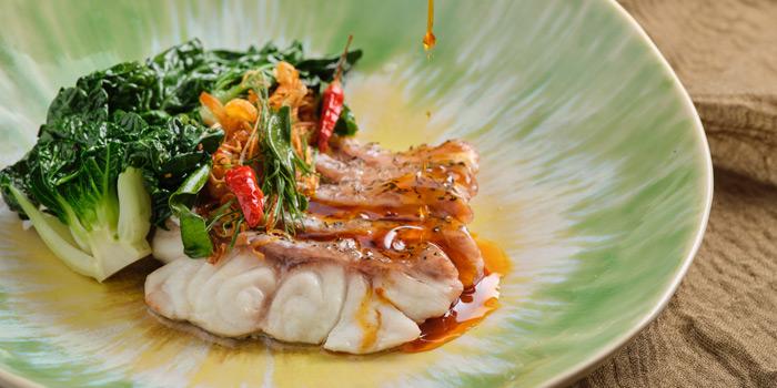 Steamed Fish from Front Room at Waldorf Astoria Bangkok Lower Lobby, 151 Ratchadamri Road Bangkok
