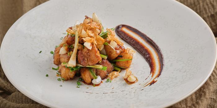 Stir-fried Pork Belly from Front Room at Waldorf Astoria Bangkok Lower Lobby, 151 Ratchadamri Road Bangkok