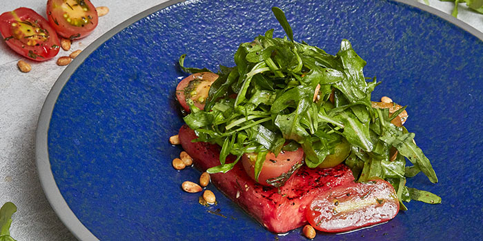 Char Grilled Watermelon & Tomato Salad from Cicada Singapore in Clarke Quay, Singapore