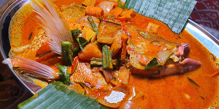 Signature Thai Style Curry Fish Head from George Town Tze Char & Craft Beer in Boat Quay, Singapore