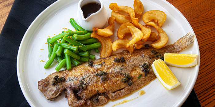 Whole Fish Roasted Wild Dover Sole from Brewerkz One Fullerton in Raffles Place, Singapore