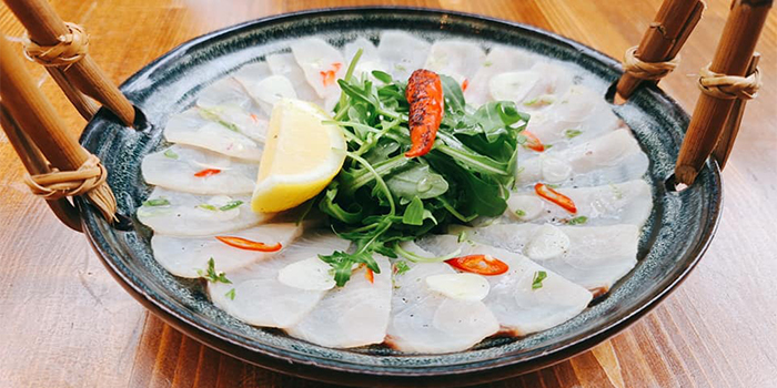 King Fish (France) Carpaccio from Pratunam Market Place and Bar at Sunshine Plaza in Bugis, Singapore