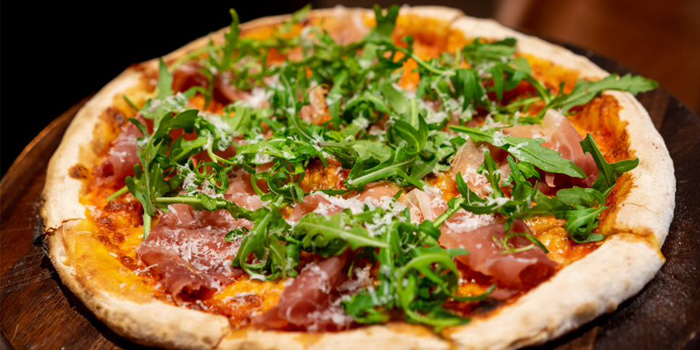 Pizza from Pine Beach Bar in Phuket, Thailand