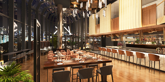 Interior of FLNT @ 1-ATICO at ION Orchard in Orchard, Singapore