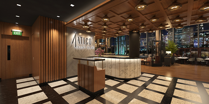Exterior of FIRE @ 1-ATICO at ION Orchard in Orchard, Singapore