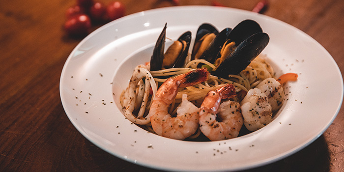 Seafood Aglio Olio from Boss Bistro & Bar in Holland Village, Singapore
