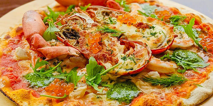 Clawsome Lobster Pizza from Trapizza in Sentosa, Singapore