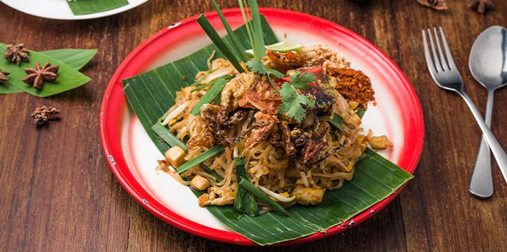 Soft Shell Crab Phad Thai from Folks Collective - The Vintage Shophouse (Cross Street) in Raffles Place, Singapore