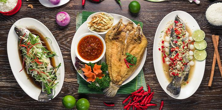 Fish (Steamed and Fried) from Folks Collective - The Vintage Shophouse (Cross Street) in Raffles Place, Singapore