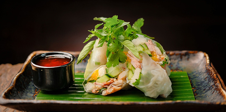 Rice Paper Rolls from Ginger Moon in Seminyak, Bali