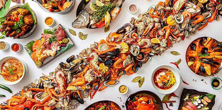 Marine Buffet from The Line in Shangri-La Hotel in Orchard, Singapore