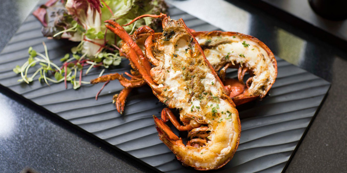Grilled River Prawns from Rain Tree cafe at The Athenee Hotel, A Luxury Collection Hotel 61 Wireless Road, Lumpini, Pathumwan Bangkok