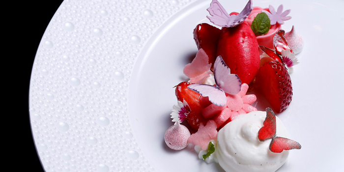 Strawberry Yogurt from The Allium Bangkok at The Athenee Hotel, A Luxury Collection Hotel 61 Wireless Road, Lumpini, Pathumwan Bangkok