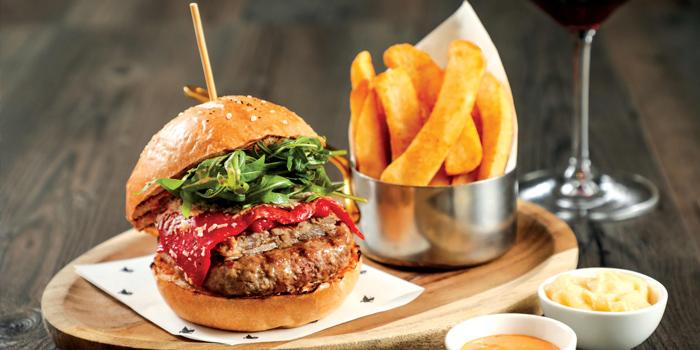 Iberico Pork Burger with Old Bay Fat Chips, Flint, Admiralty, Hong Kong