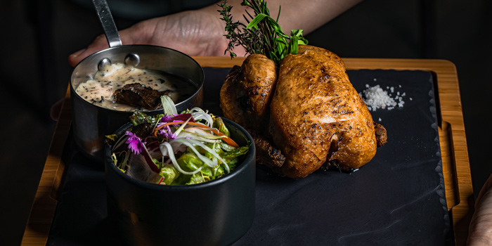 Roasted-Baby-Chicken from Scarlett Wine Bar & Restaurant at Pullman Bangkok Hotel G 37th Floor, 188 Silom Rd, Bangrak, Bangkok