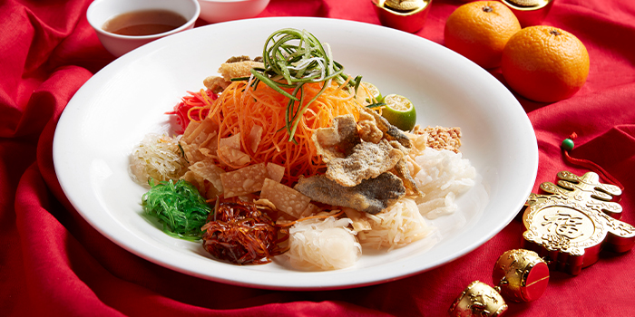Crispy Fish Skin Yu Sheng from Window on the Park in Holiday Inn Singapore Orchard City Centre in Orchard, Singapore